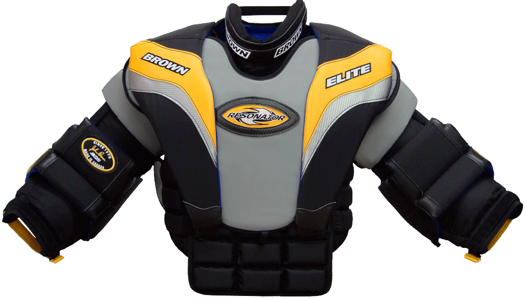 Chest And Arm Protectors Brown Hockey
